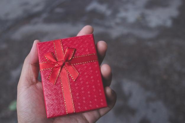 クリスマス、バレンタイン、休日のギフトボックスの概念
