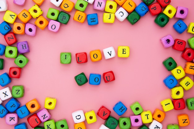 Я люблю тебя слова, надписи. день святого валентина