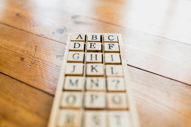 学校や学習のためのアルファベット文字のセット