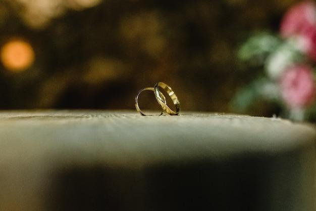 エレガントな結婚指輪のペア