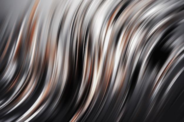 抽象的な金属の曲線
