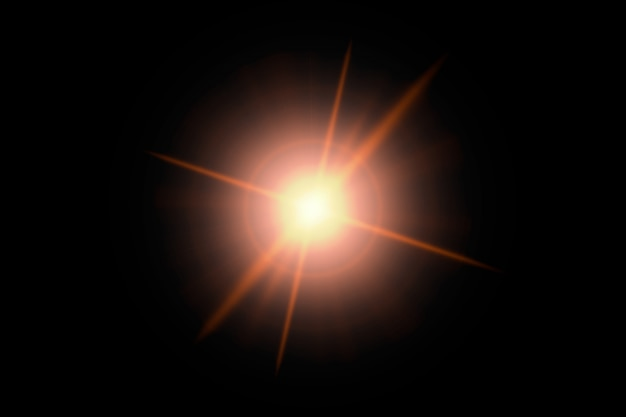 Абстрактный свет вспышки на черной поверхности