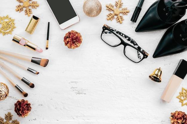 メリークリスマスと新年のファッションコンセプト