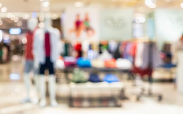 ファッションショッピングファッションストアの抽象的なぼやけた写真
