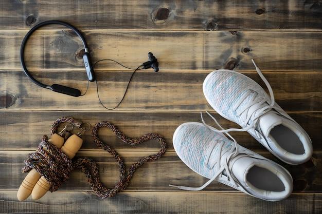 Фитнес и здоровый активный образ жизни любят фон концепции.