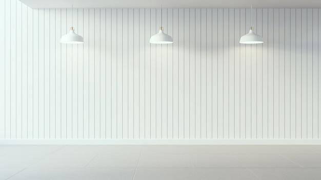 Белый плакат на белой деревянной стене и дизайне интерьера