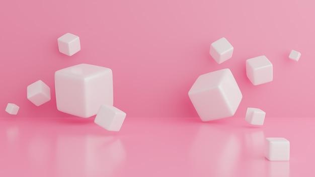 Абстрактная концепция белых кубов. абстрактная предпосылка.