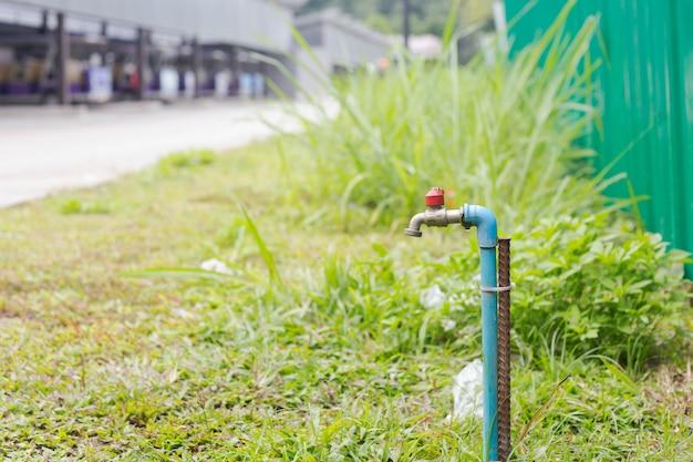自然の真鍮水道