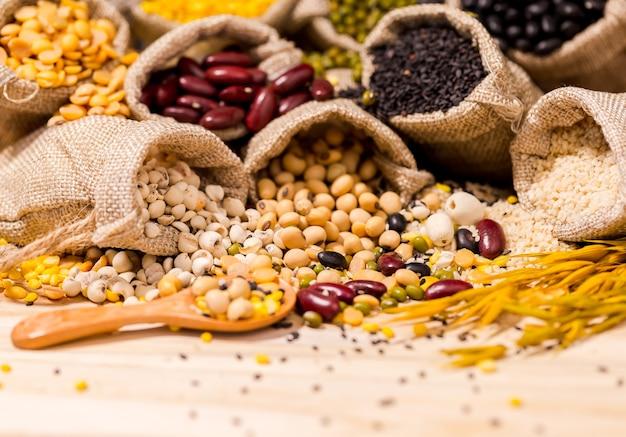 良い健康、コピースペースのための乾燥豆。