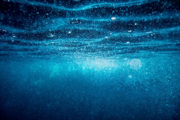 水中の波面の背景