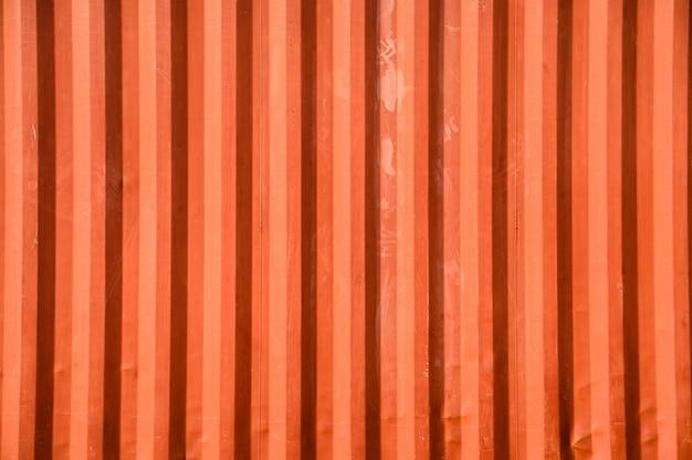 表面オレンジコンテナー倉庫の質感