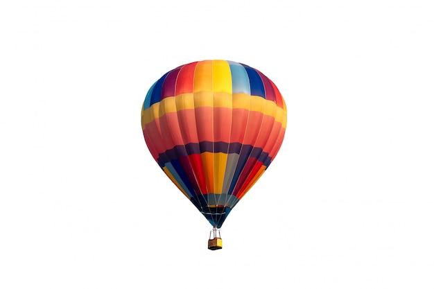 カラフルな熱気球の飛行