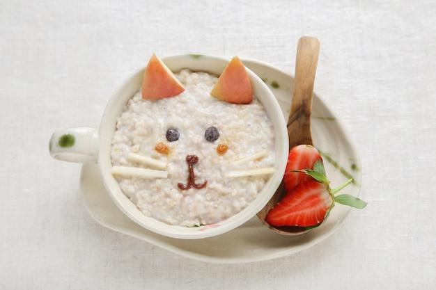Каша котенок овсяная каша, еда для детей