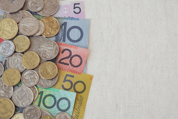 オーストラリアのオーストラリアドルとコピースペース