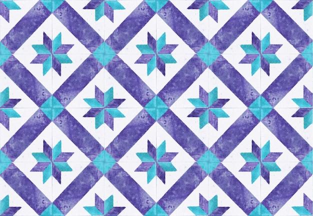 Красочная винтажная отделка стен керамических плиток. турецкая предпосылка стены керамических плиток