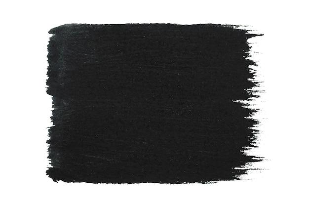 黒いストロークブラシストロークカラーテクスチャをペイントする