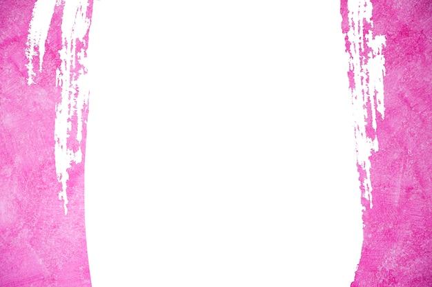 Абстрактный розовый цвет краски. розовая кисть инсульта фон и рамка.