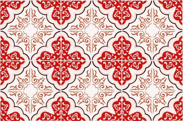 ヴィンテージセラミックタイル壁装飾。トルコのセラミックタイル壁背景