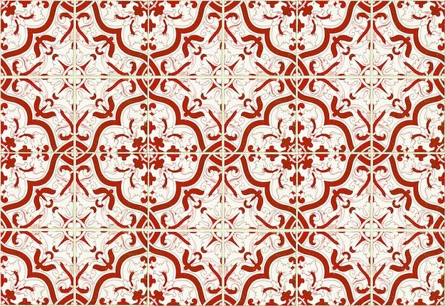 モロッコタイルパターンの背景。カラフルなヴィンテージセラミックタイルの壁の装飾
