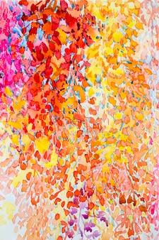 抽象的な花の抽象的な水彩画元絵画カラフルな束