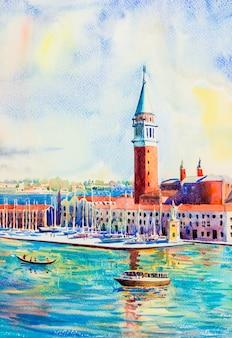Остров сан-джорджо маджоре, венеция, италия.