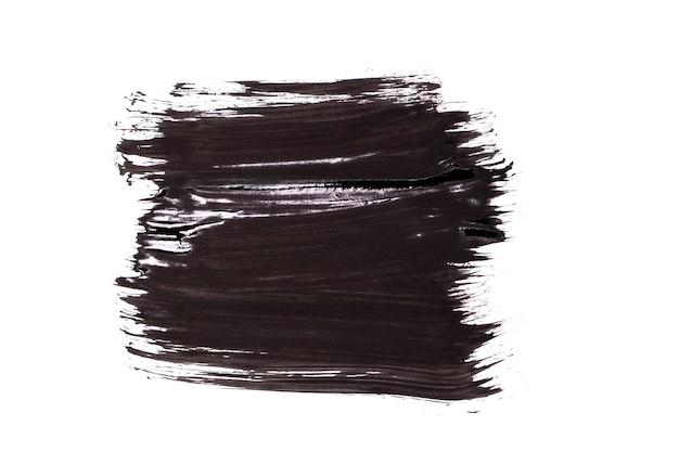 黒い筆のストロークは、背景に隔離