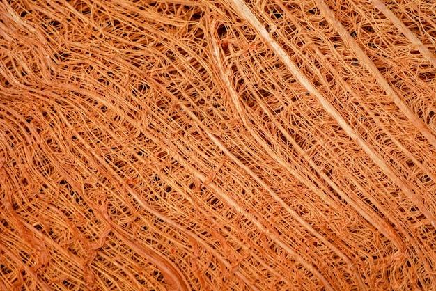 テクスチャココナッツ繊維の抽象的な背景