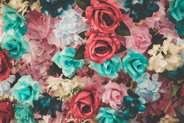 背景の美しい花束の花
