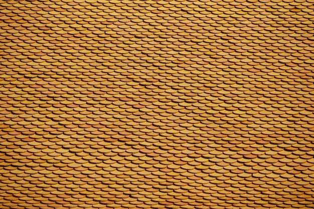 抽象的な背景テクスチャ茶色瓦屋根パターン