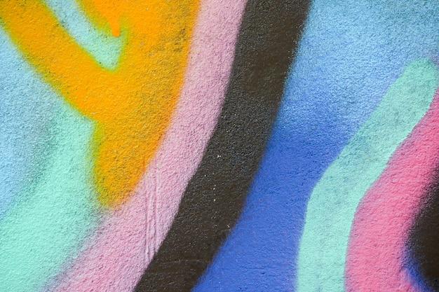 Красочная текстура граффити на стене в качестве фона