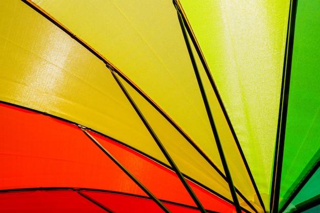 カラフルな傘の背景布のテクスチャ