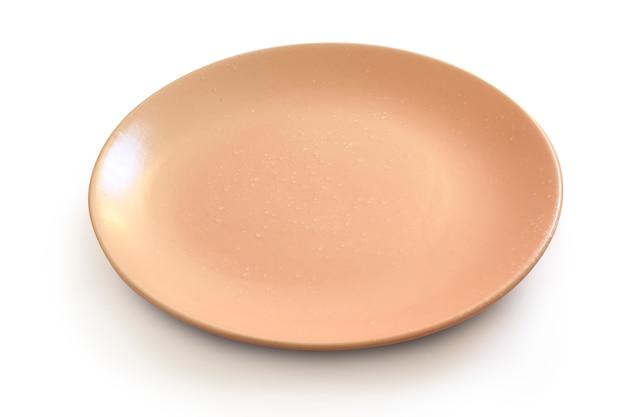Розовая плита на белизне с путем клиппирования.