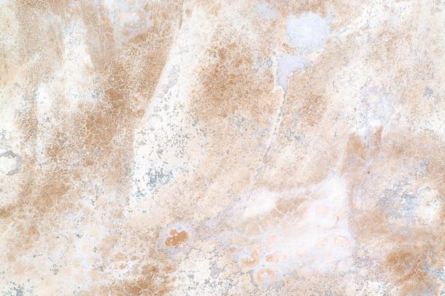 セメント表面の模様と色。