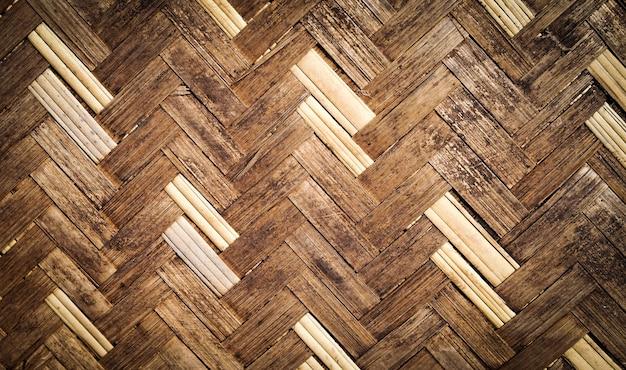 背景のための竹製の伝統的なタイスタイルのパターンのテクスチャ