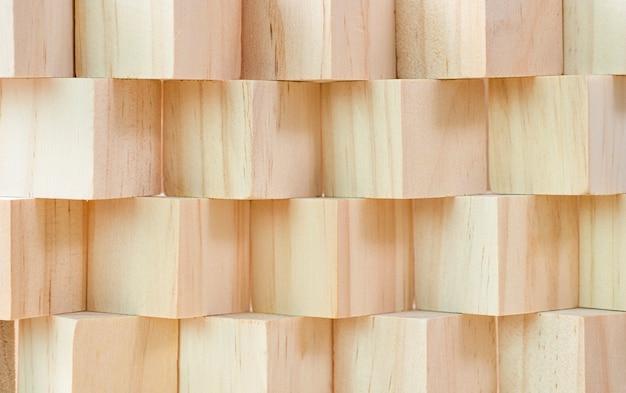 Деревянные кубики или блок укладки фон