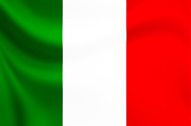 背景とテクスチャのイタリア国旗。