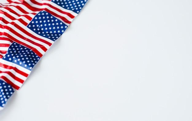 しわアメリカ合衆国またはアメリカの国旗。