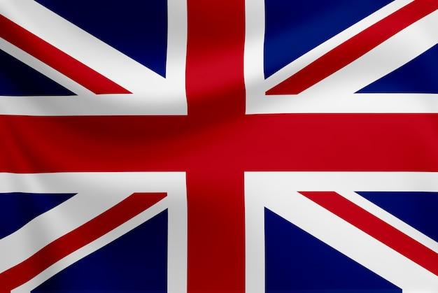 イギリスの旗を振っています。