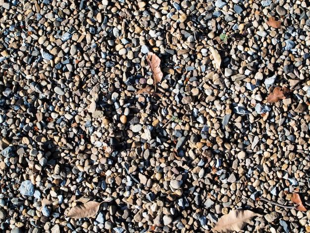 岩の葉の花古いアスファルト自然の小石秋土壌材料の背景を生成する