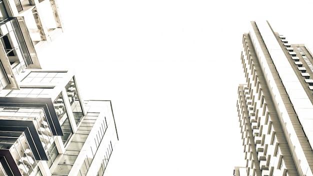 都市の建物の建築