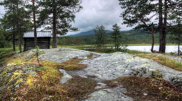 ノルウェーの風景のさまざまな色