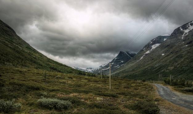 ノルウェーの風景に荒い自然
