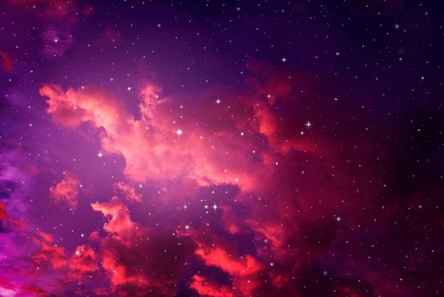 Ночное небо со звездами.
