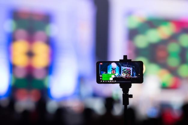 ステージ上のモバイルライト