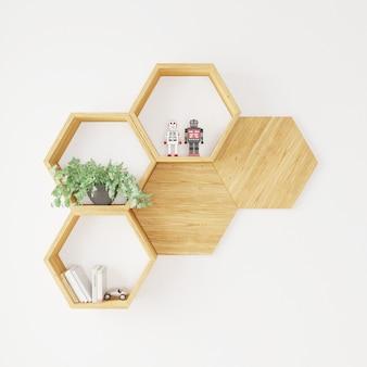ヘキセゴン棚本、植物玩具