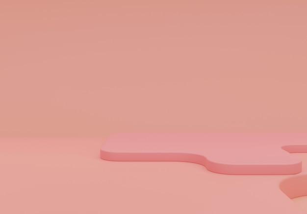 Розовый пастельный монохромный косметический фон для презентации продукта