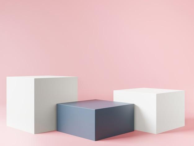 製品のプレゼンテーションのためのピンクの化粧品の背景
