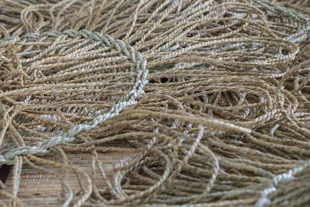 乾燥スゲ背景から作られた枝編み細工マットテクスチャ
