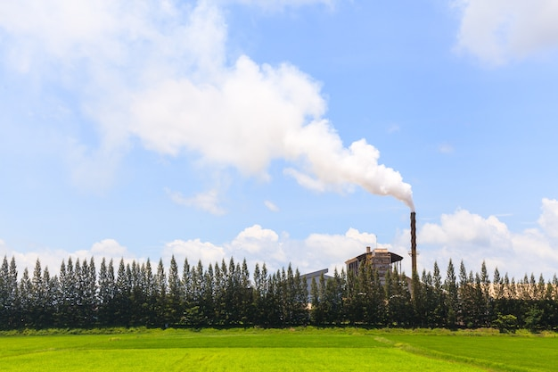 工場からの煙