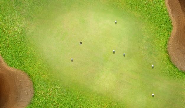 ゴルフコースの空中像